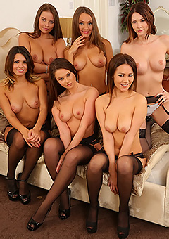 Six Brunettes